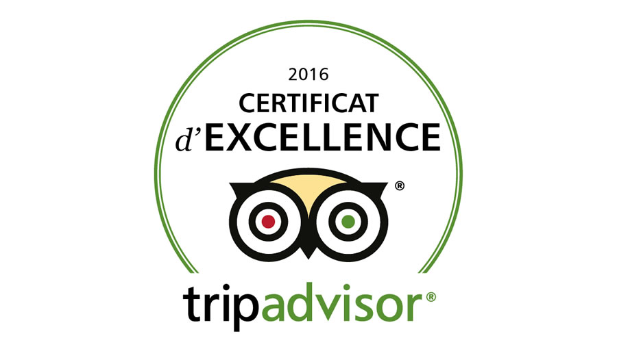 Trip Advisor accorde le certificat d'excellence à l'hôtel de l'Europe
